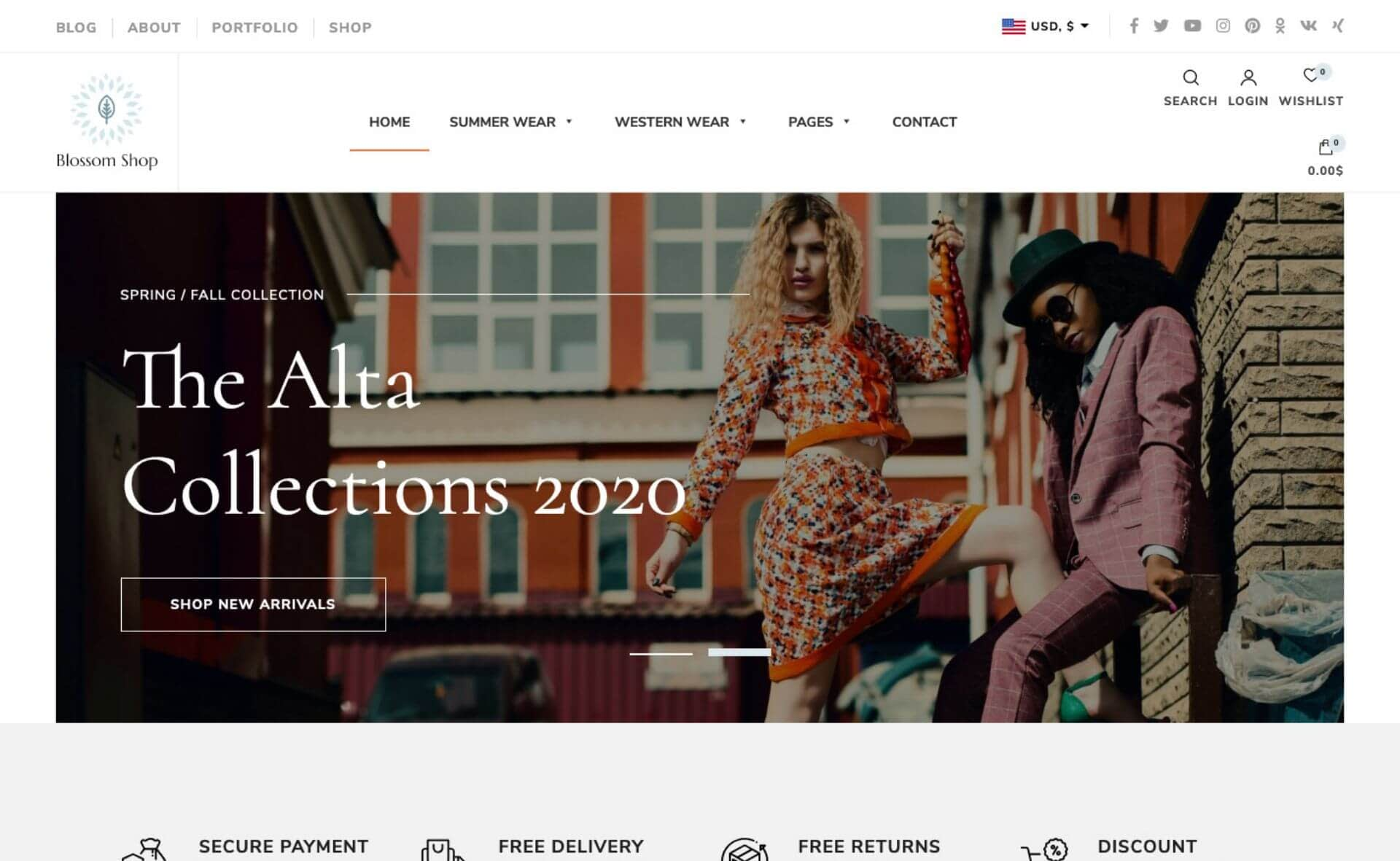 Blossom Shop - Free eCommerce Theme