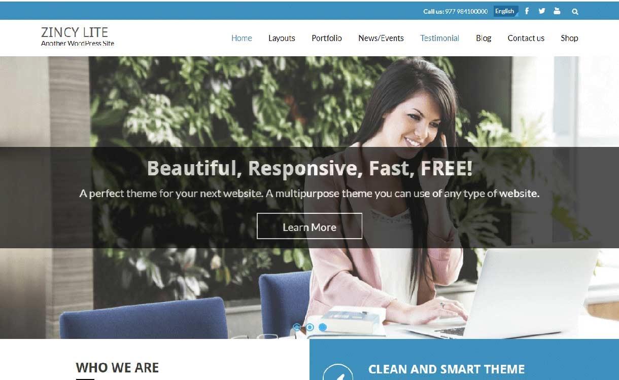 zincy-lite-best-free-responsive-wordpress-theme
