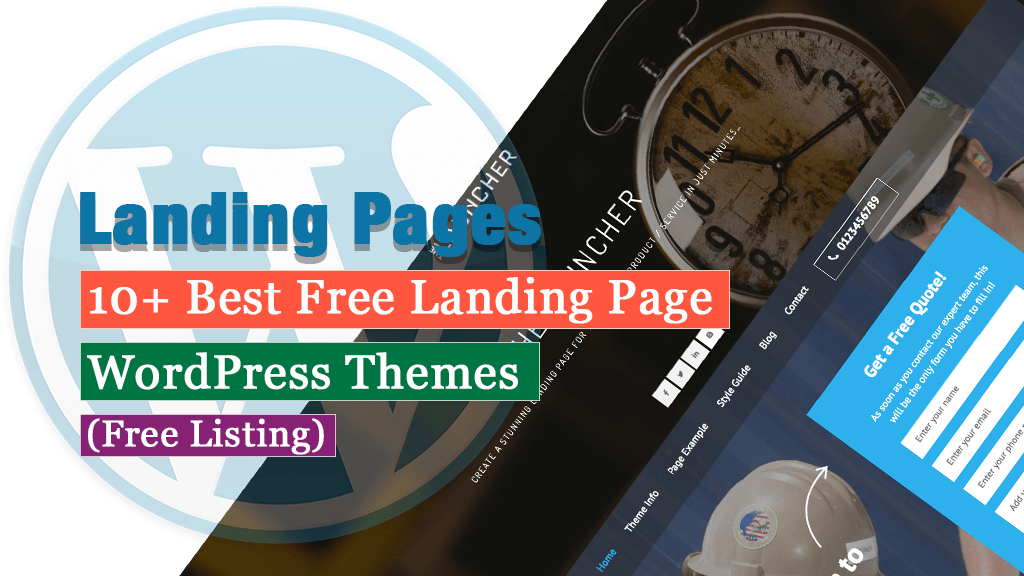 10+ Best Free Landing Page WordPress Themes - 2021