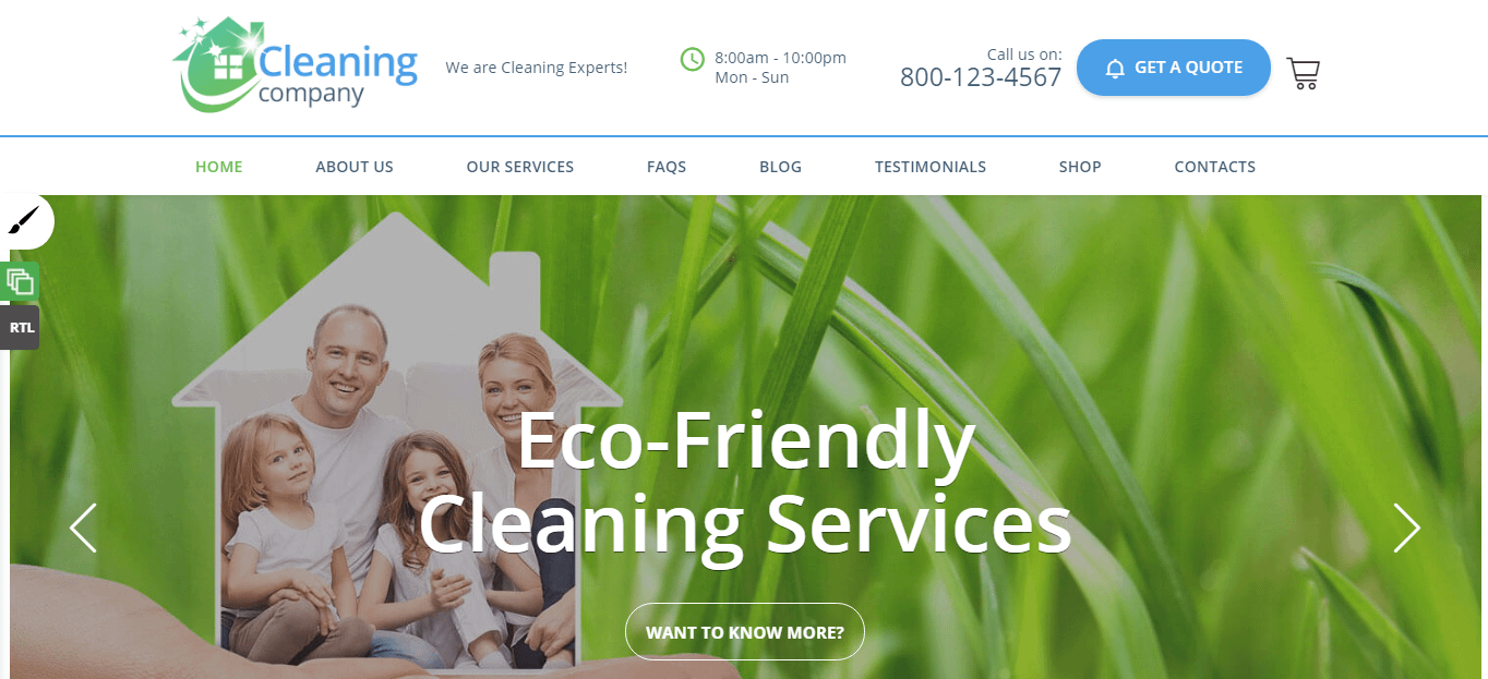 Cleaning Service - Best WordPress Cleaning Service Theme