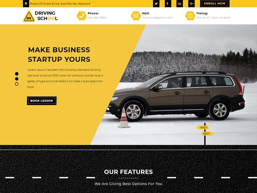 tg-driving-school-best-free-automobile-wordpress-theme