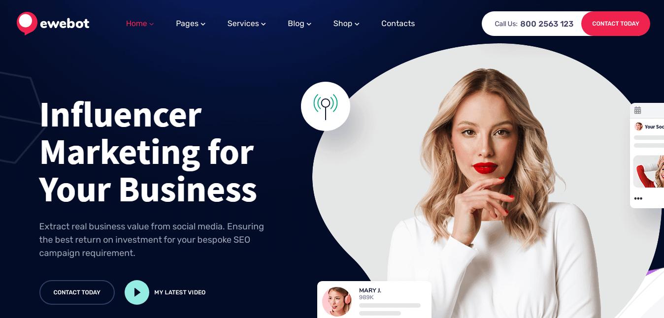 Ewebot - Best Marketing Agency WordPress Theme