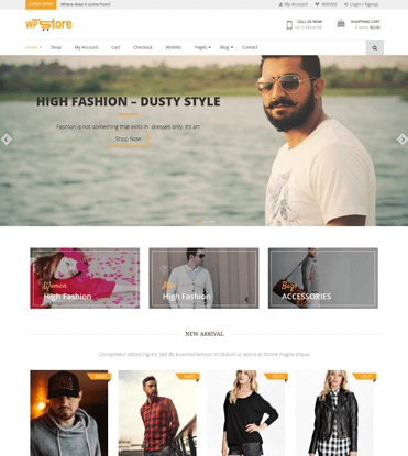 WP Store - Best Free WooCommerce Store WordPress Theme