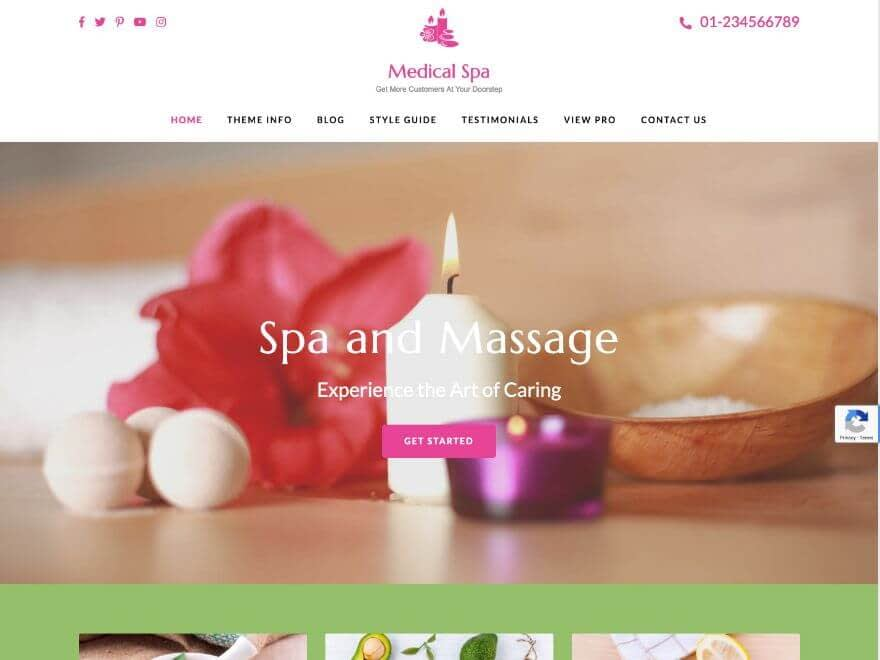 Medical Spa - WordPress Medical Theme