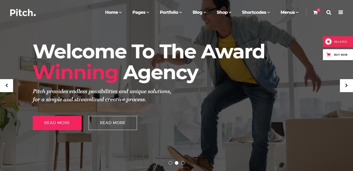 Pitch – Best Marketing Agency WordPress Theme