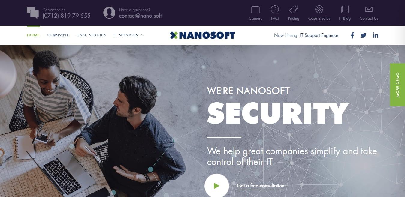 Nanosoft – Best SaaS WordPress Theme