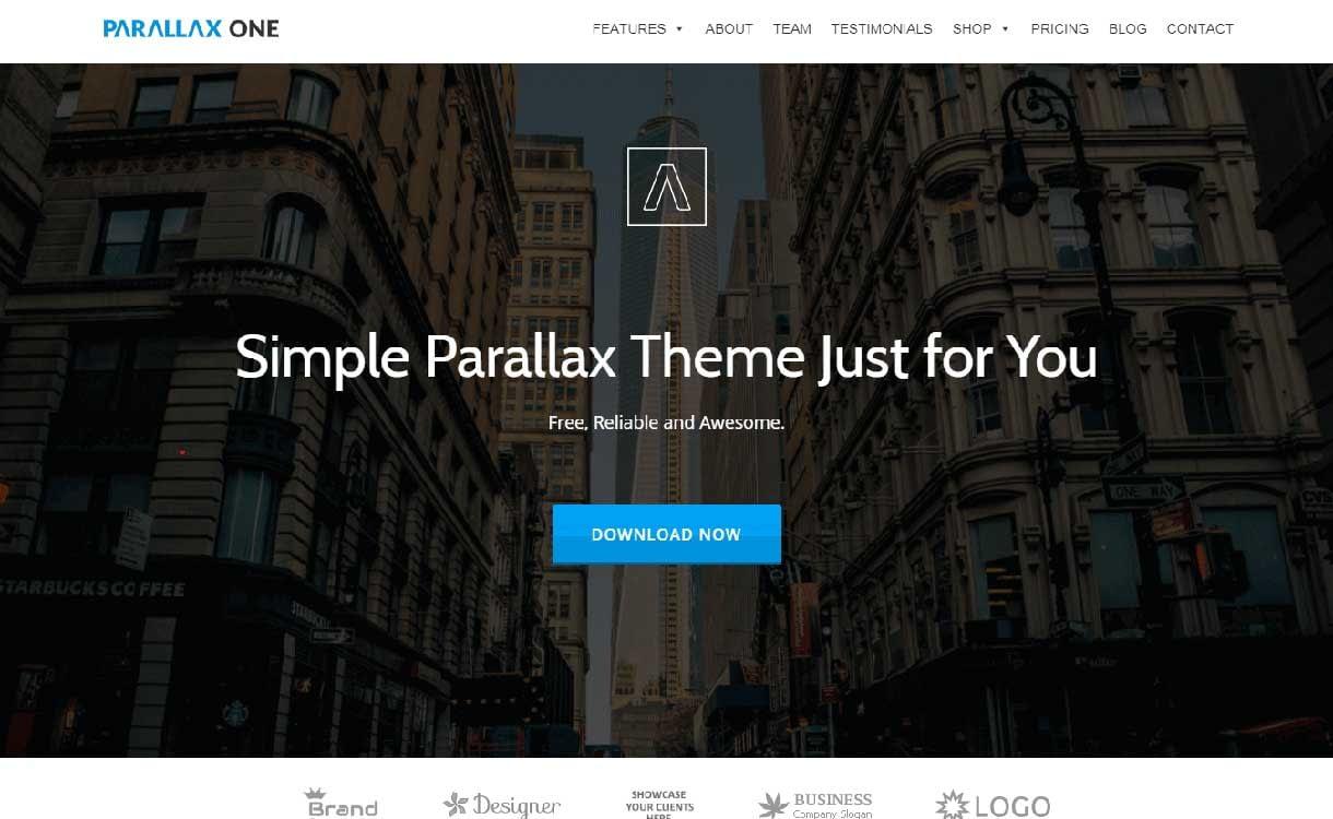 parallax-one-best-free-parallax-wordpress-themes