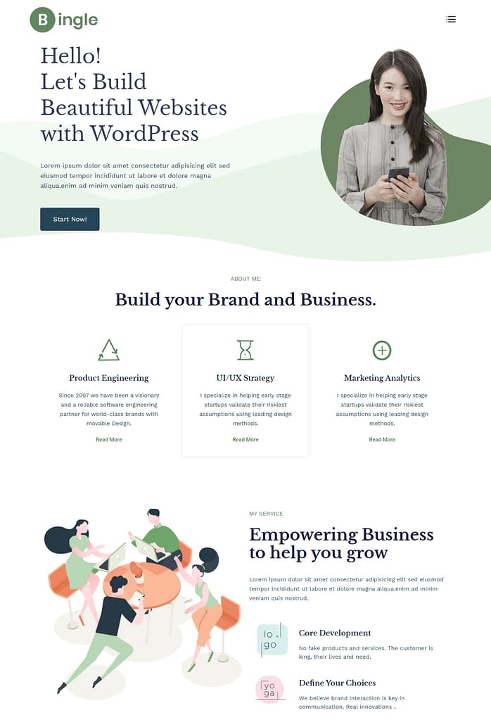 Bingle-best-free-WordPress-themes