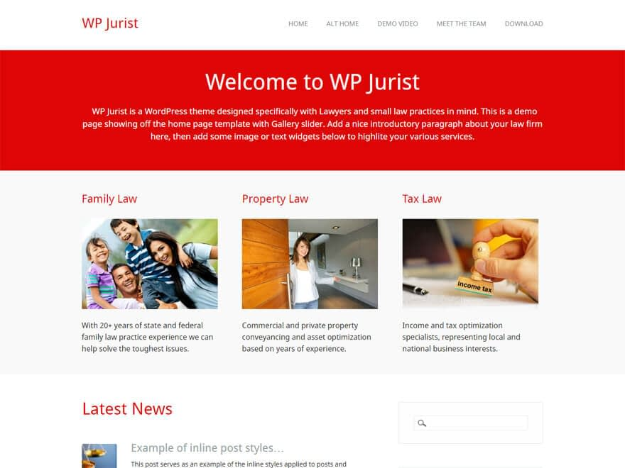 WP Jurist-Free Lawyer WordPress Theme