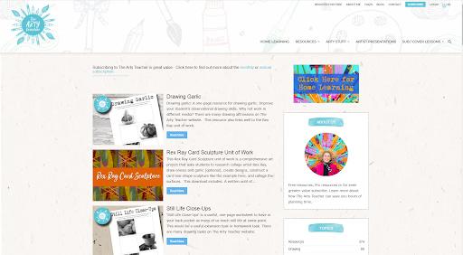 The Arty Teacher - Best eCommerce WordPress website