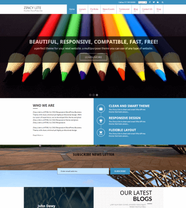 Zincy Lite - Free Multipurpose WordPress Theme