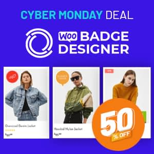 WooBadge designer Cyber Monday Sale 2020