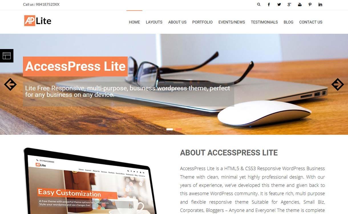 accesspress-lite-free-multipurpose-wordpress-theme