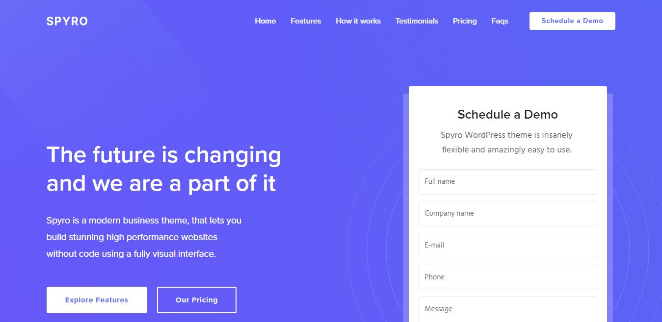 Spyro - Best SaaS WordPress Theme