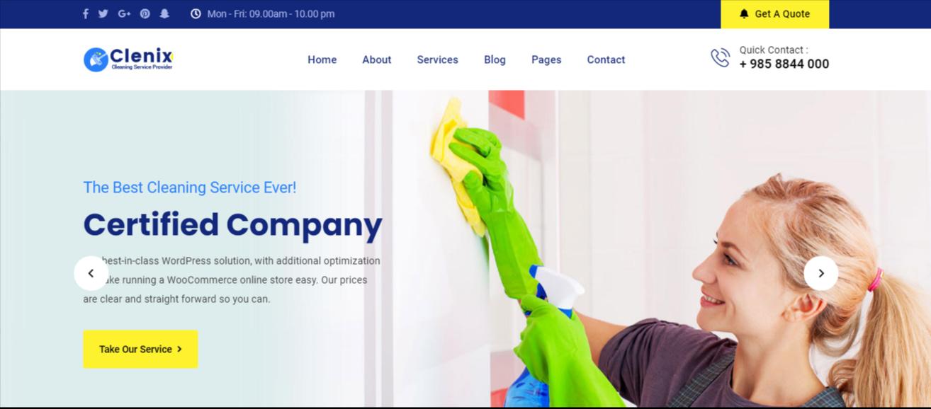 Clenix - Best WordPress Cleaning Service Theme