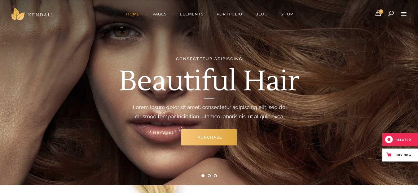 Kendall – Best Hairdresser WordPress Theme