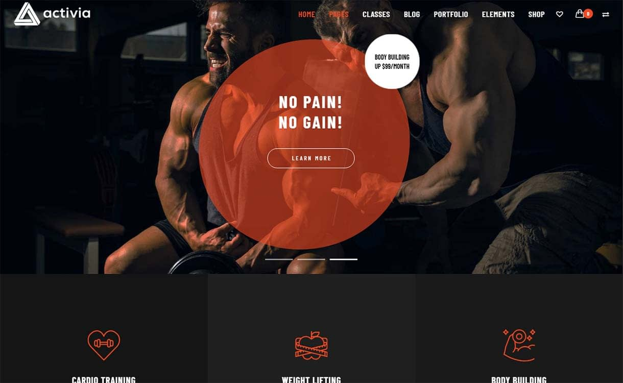 activia-best-premium-fitness-wordpress-theme