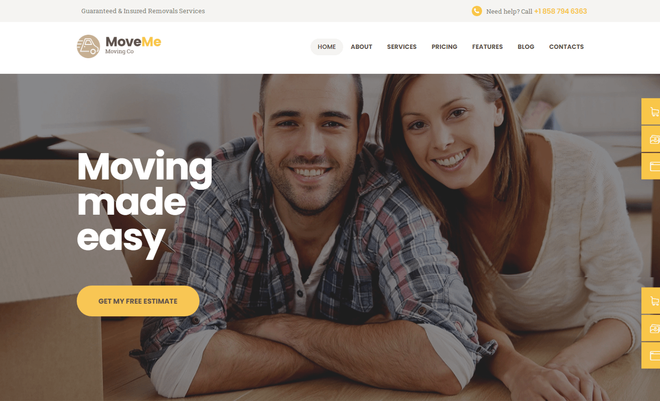MoveMe - Best Transportation WordPress Theme