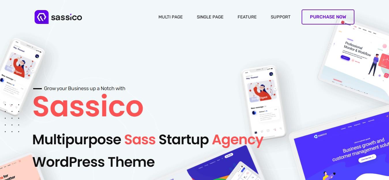 Sassico - Best WordPress Startup Theme