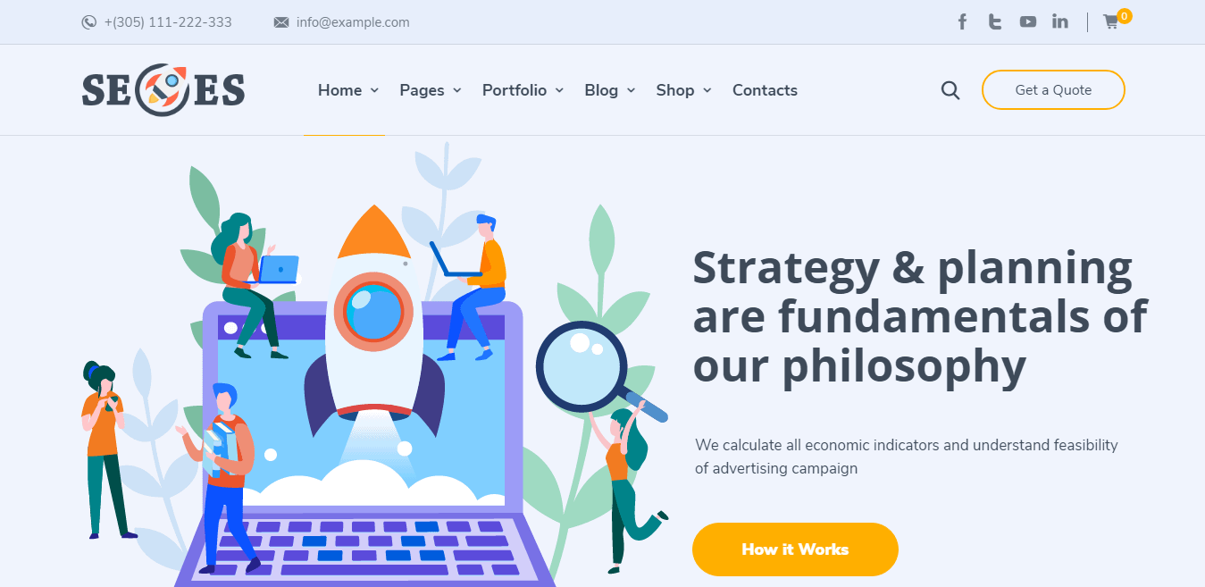 SeoEs – Best Marketing Agency WordPress Theme