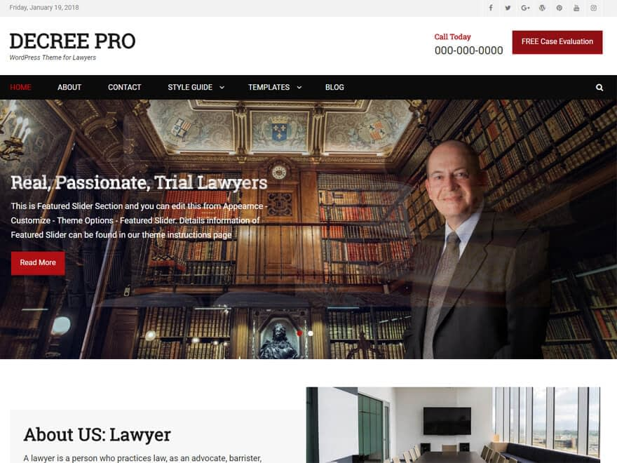 Decree-Free Lawyer WordPress Theme
