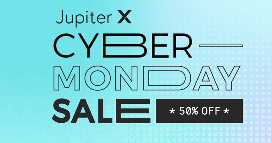 Jupiter X WP Theme cyber monday sale