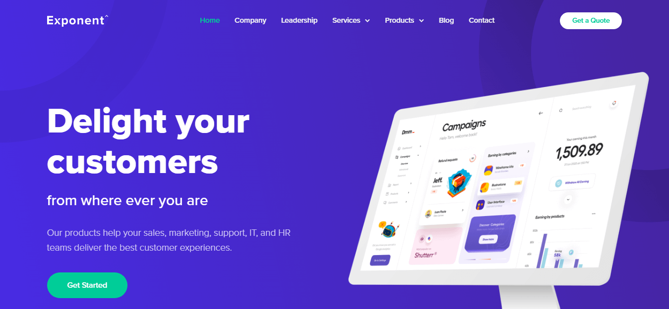 Exponent - Best Software Company WordPress Theme