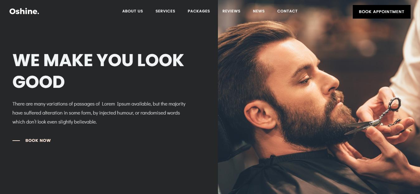 Oshine - Best Hairdresser WordPress Theme