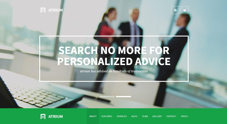 Atrium - Best Financial Company WordPress Theme