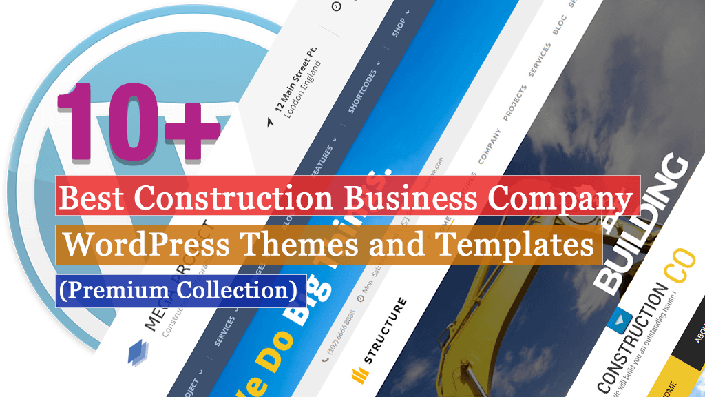 10+ Best Premium Construction Business Company WordPress Themes and Templates