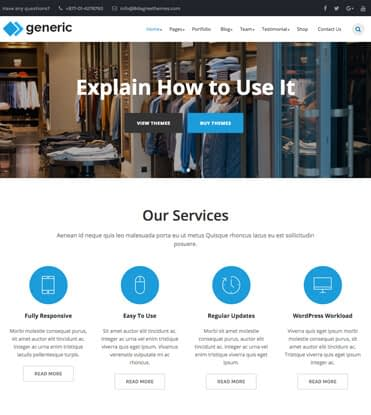 WP Generic - Best Multipurpose WordPress Theme