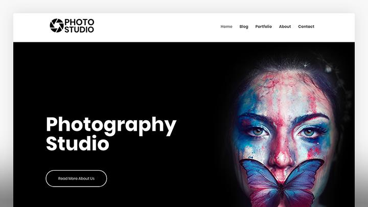 Photography studio- Free photography WordPress theme