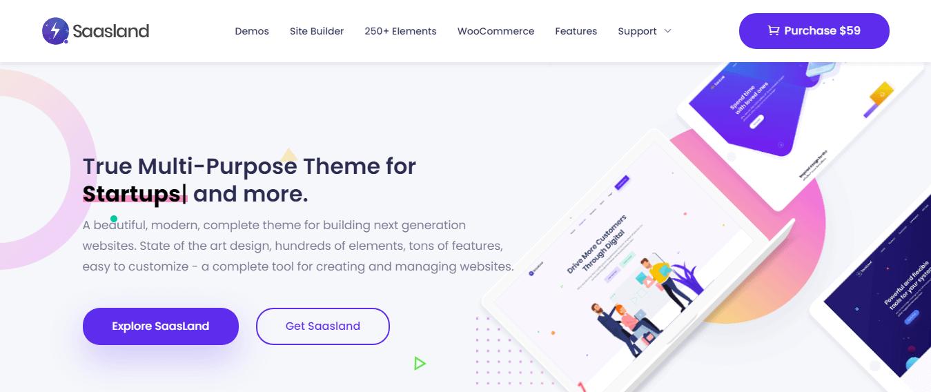 SaasLand - Best WordPress Startup Theme
