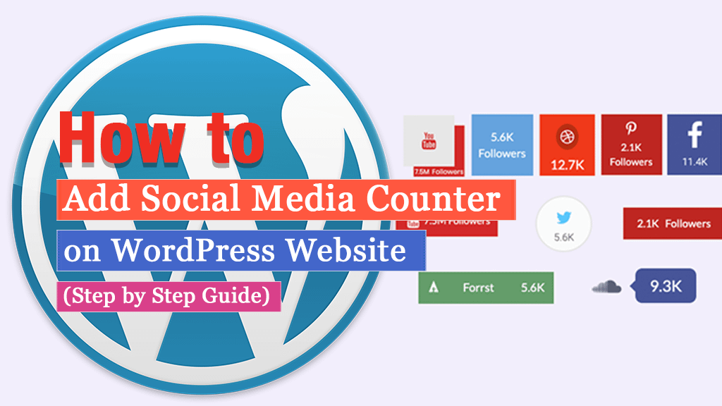 How to Add Social Media Counter on WordPress Website? (Step by Step Tutorial)