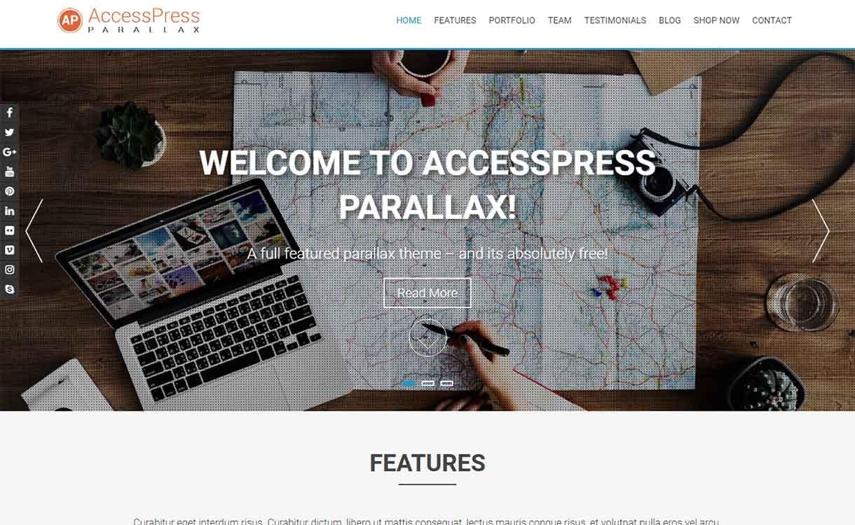 accesspress-parallax-best-free-responsive-wordpress-themes