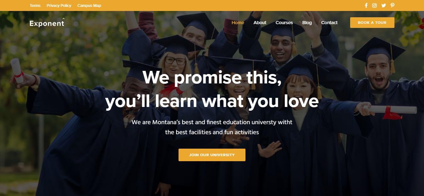 Exponent – Education WordPress Theme