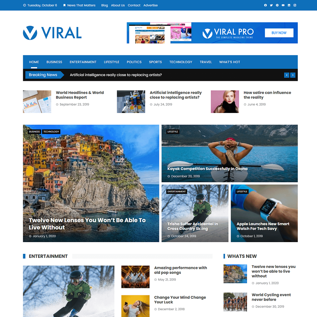 Viral WordPress Theme