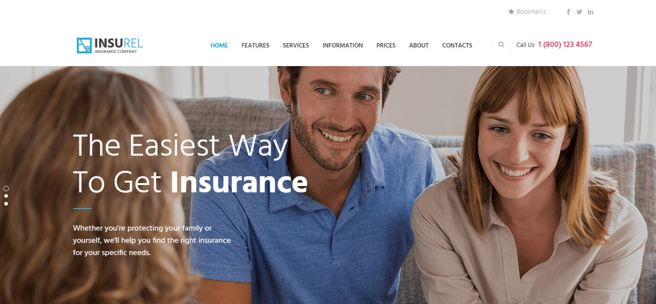 InsuRel - Best Financial Company WordPress Theme