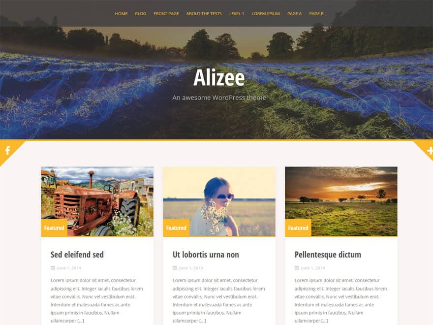 Alizee - Free WordPress Blog Themes