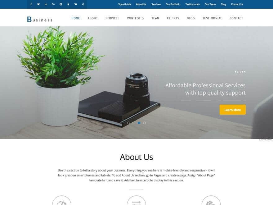 Business One Page Pro - Premium Business WP Theme