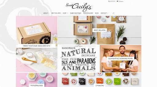 Sweet Cecilys - Best eCommerce WordPress website