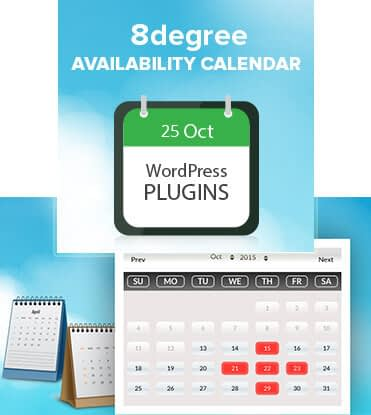 8 Degree Availability Calendar - FREE WP Booking Calendar Plugin