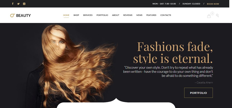 Hair Salon - Best Hairdresser WordPress Theme