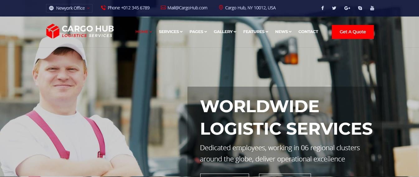 Cargo HUB - Best Transportation WordPress Theme