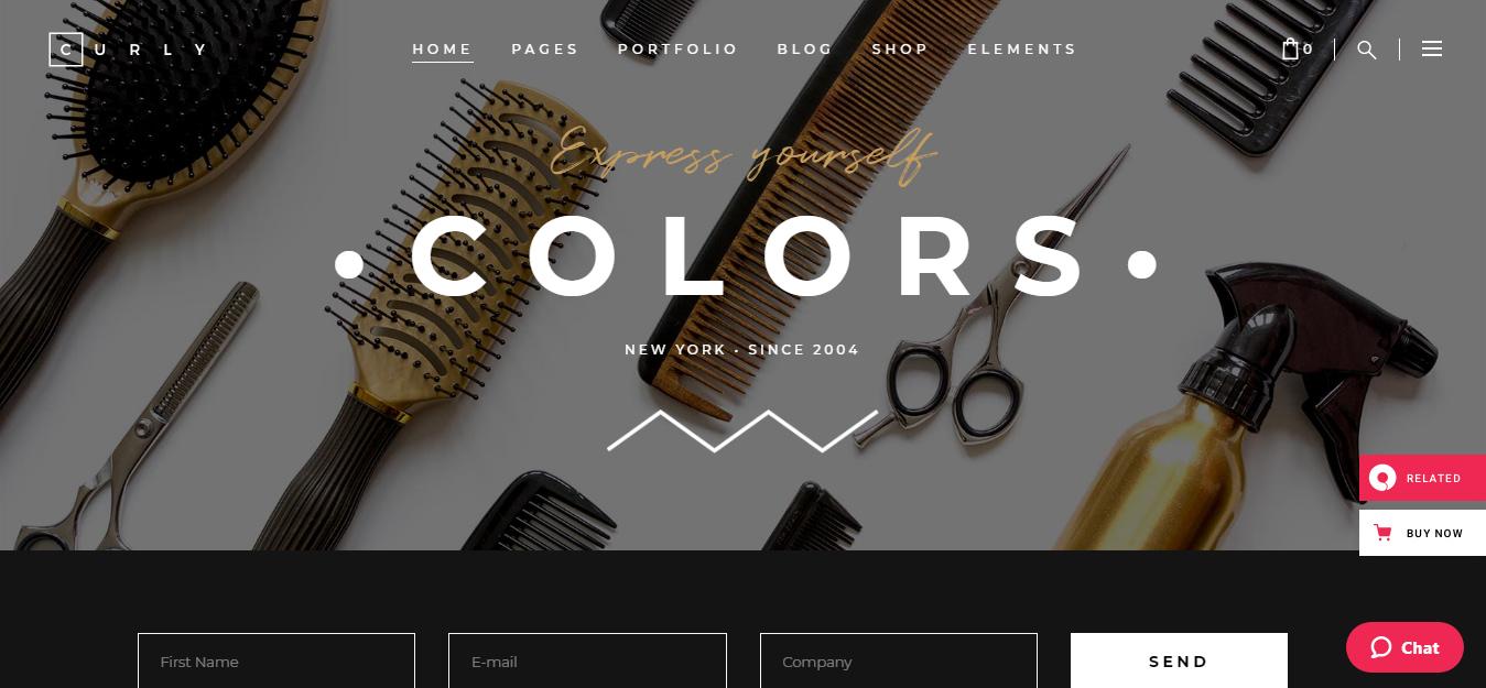 Curly – Best Hairdresser WordPress Theme
