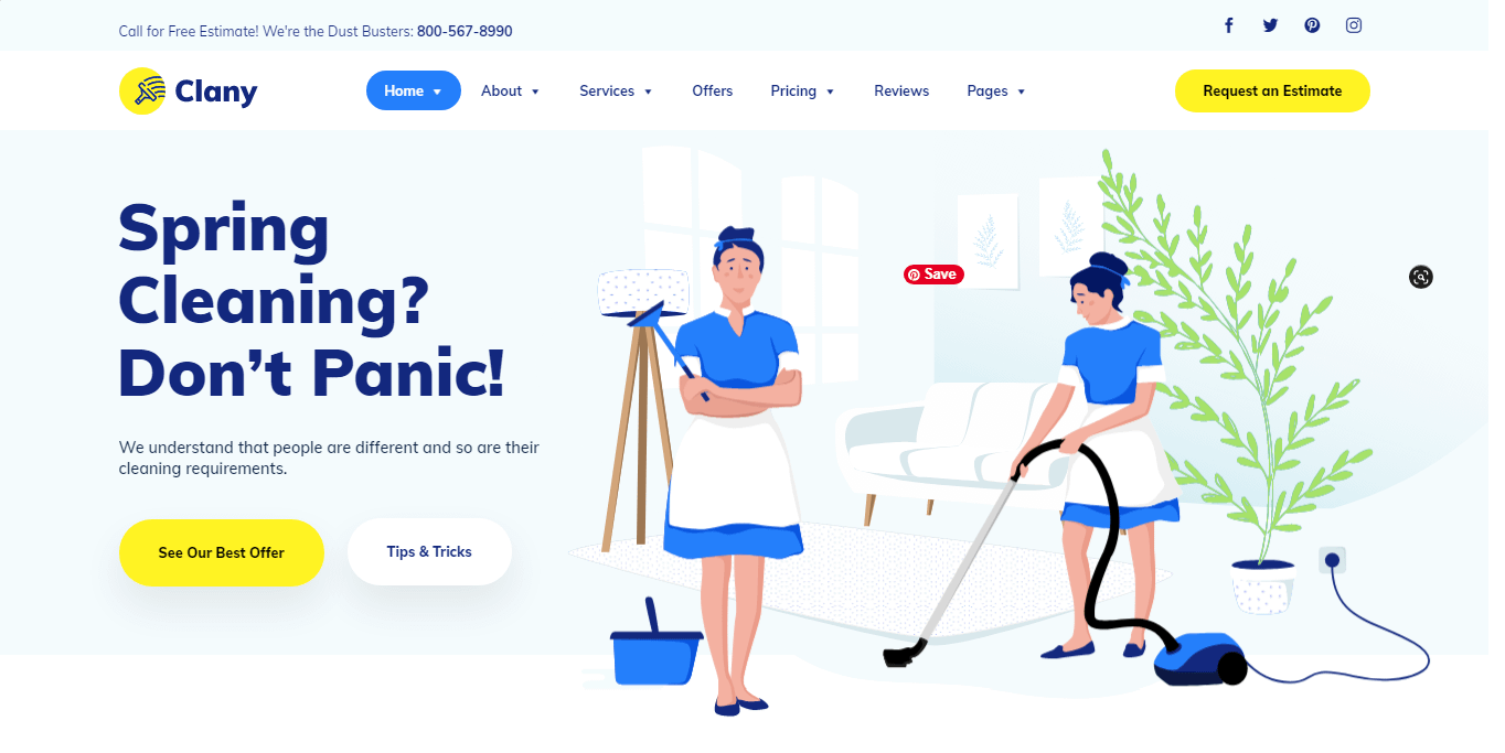 Clany - Best WordPress Cleaning Service Theme