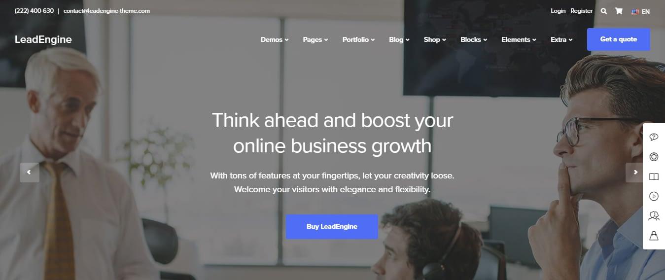LeadEngine - Best Software Company WordPress Theme