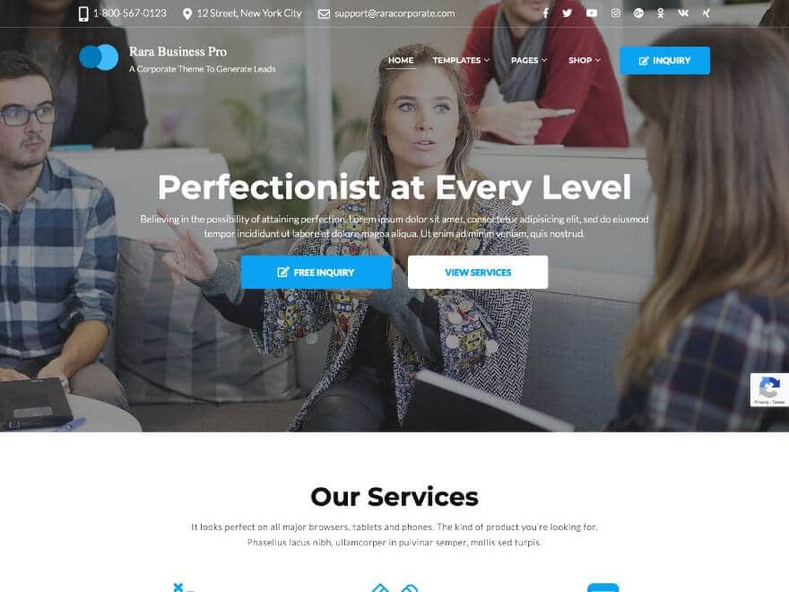 Rara Business Pro - Premium Business WP Theme