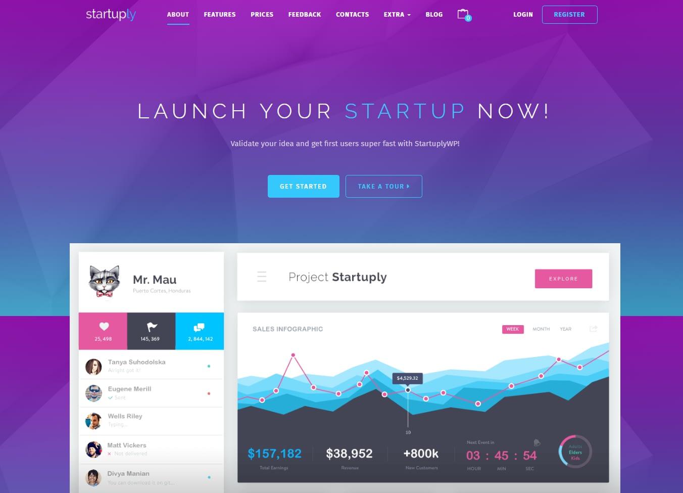 Startuply - Best SaaS WordPress Theme