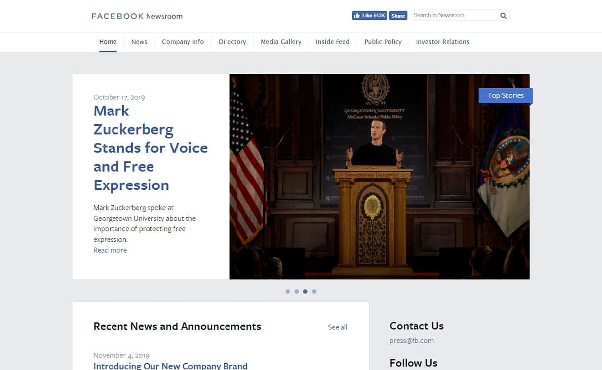 Facebook-Newsroom